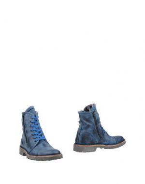 Полусапоги и высокие ботинки YAB. Цвет: темно-синий