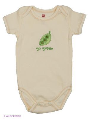 Боди Органик Горошек Hudson Baby. Цвет: кремовый
