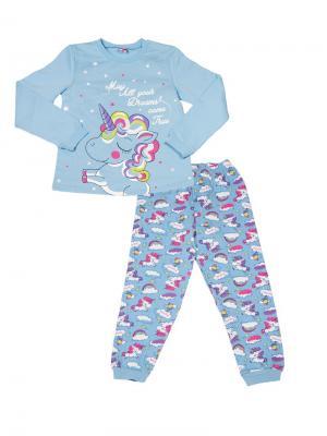 Пижама Cherubino. Цвет: голубой