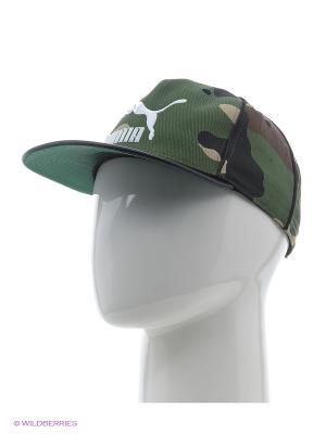 Бейсболка LS Deluxe strapback Puma. Цвет: зеленый