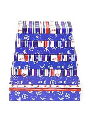 Подарочная коробка VELD-CO. Цвет: синий, белый, красный