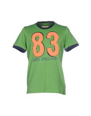 Футболка NEW ENGLAND. Цвет: зеленый