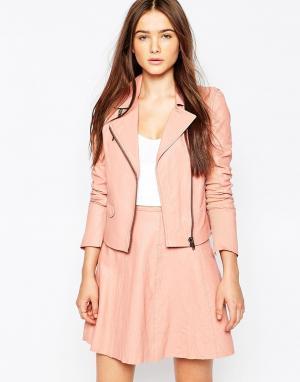 Muubaa Байкерская кожаная куртка Gulrro. Цвет: розовый