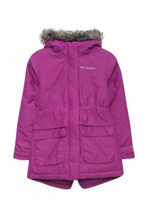 Куртка утепленная Columbia. Цвет: фуксия