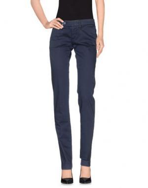 Повседневные брюки PAOLA FRANI. Цвет: грифельно-синий
