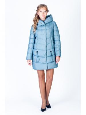 Пальто FREYA. Цвет: серо-голубой