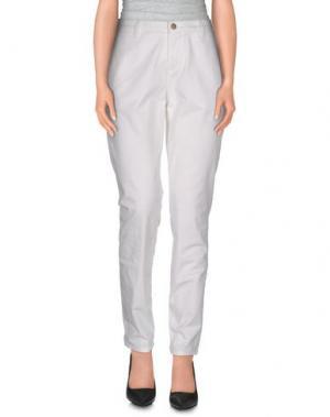 Повседневные брюки UP ★ JEANS. Цвет: белый