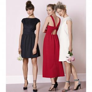 Платье La Redoute Collections. Цвет: красный,ярко-синий