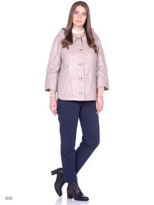 Кожаная куртка MONDIAL. Цвет: розовый, бежевый