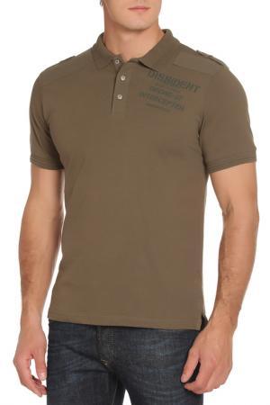 Рубашка-поло DISSIDENT. Цвет: amazon kahki