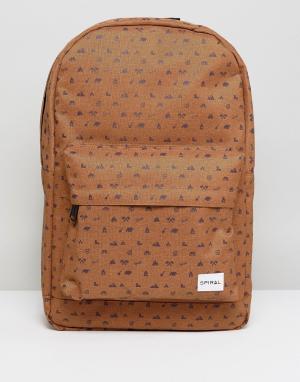 Spiral Песочный рюкзак. Цвет: рыжий
