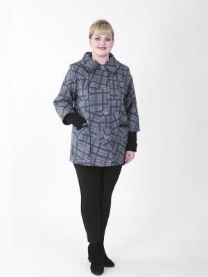Пальто Бленда VIKO. Цвет: серый, синий