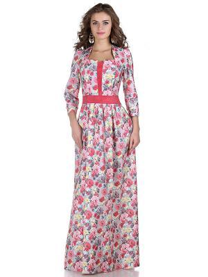 Платье OLIVEGREY. Цвет: розовый, бежевый
