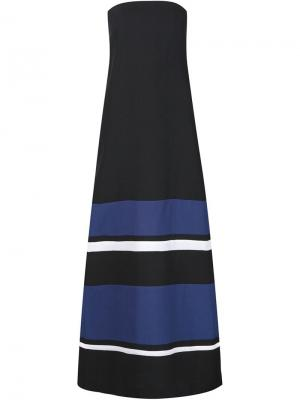 Длинное платье без бретелек Martin Grant. Цвет: чёрный