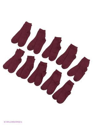 Носочки детские Тульский трикотаж (комплект 10 пар). Цвет: бордовый