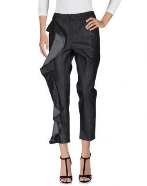 Джинсовые брюки NINEMINUTES. Цвет: черный