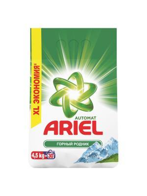 Стиральный порошок Горный Родник 4.5 кг Ariel. Цвет: белый, зеленый