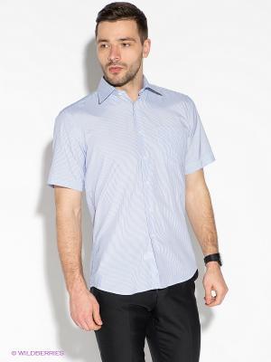 Рубашка Hans Grubber. Цвет: голубой, белый