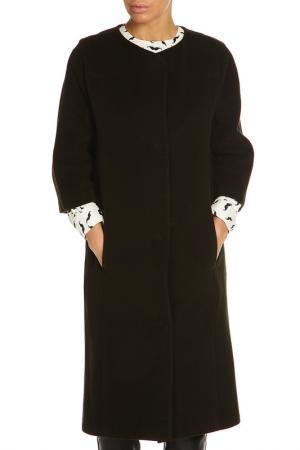Пальто, застежка-кнопки NATALIA PICARIELLO. Цвет: темно-оливковый