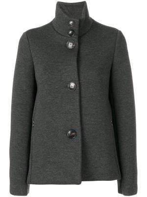 Пальто с отворотом Rrd. Цвет: серый