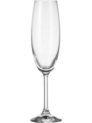 Набор бокалов для шампанского Venezia (6 шт.) Krosno. Цвет: прозрачный