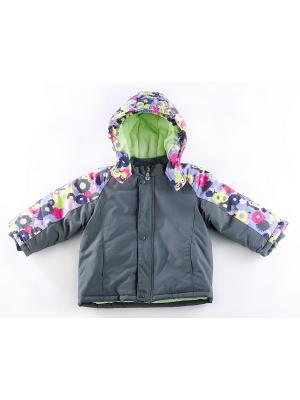 Куртка утепленная ВЕНЕЙЯ. Цвет: серый
