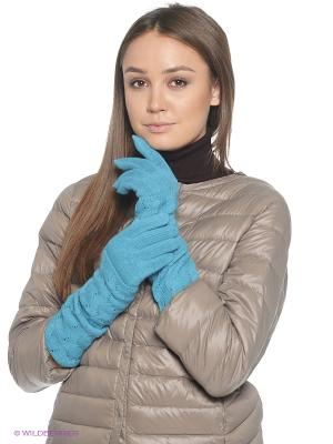 Перчатки FOMAS. Цвет: голубой