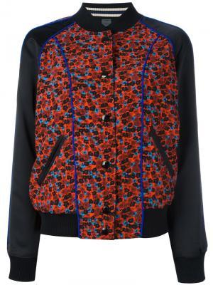 Куртка бомбер с цветочным принтом Coach. Цвет: чёрный