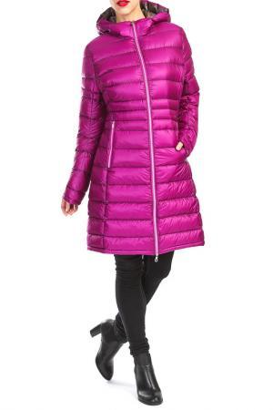 Пальто YETI. Цвет: розовый