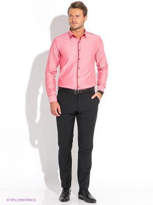 Рубашка BAWER. Цвет: розовый