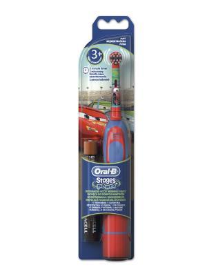 Детская электрическая зубная щётка ORAL-B Kids Cars ORAL_B. Цвет: красный, синий