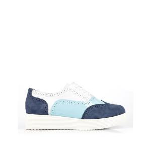 Ботинки-дерби кожаные Darichie MELLOW YELLOW. Цвет: белый + синий