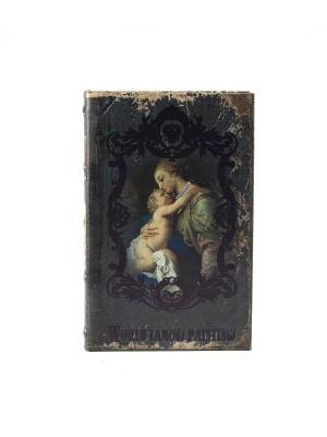 Шкатулка-фолиант Мадонна с младенцем 21*14*3см Русские подарки. Цвет: темно-зеленый