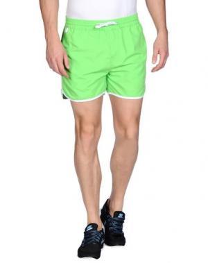 Повседневные шорты RUSSELL ATHLETIC. Цвет: кислотно-зеленый