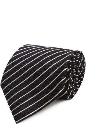 Шелковый галстук в полоску Tom Ford. Цвет: черный