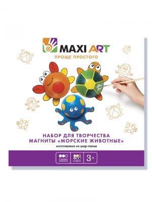 Набор для Творчества. Магниты Морские Животные MAXITOYS. Цвет: белый, черный, синий, зеленый, красный, желтый