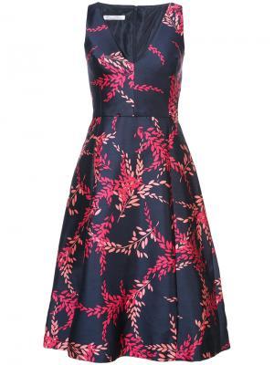 Платье с принтом без рукавов Oscar de la Renta. Цвет: синий