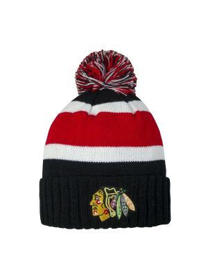 Шапка NHL Blackhawks Atributika & Club. Цвет: черный, белый, красный