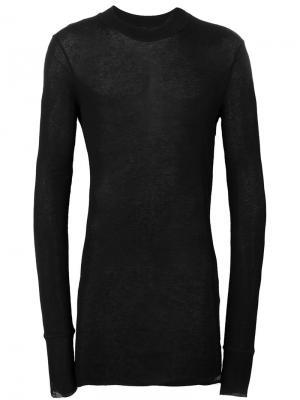 Прозрачная футболка с длинными рукавами Barbara I Gongini. Цвет: чёрный