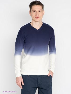 Пуловер Mezaguz. Цвет: синий, белый