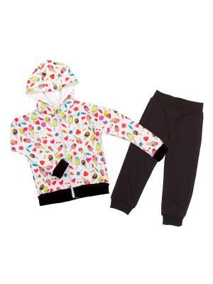 Трикотажный костюм babyAngel. Цвет: молочный, коричневый