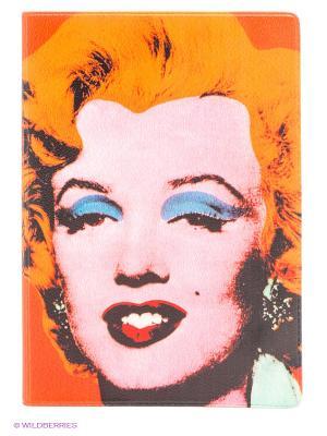 Обложка для паспорта Монро - Уорхол Mitya Veselkov. Цвет: оранжевый, розовый