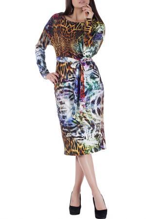 Платье Mannon. Цвет: желто-коричневый