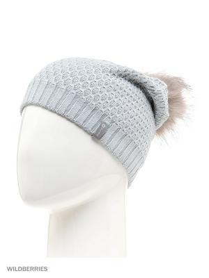 Пальма Беркле шапка женская с помпоном Berkle. Цвет: серый