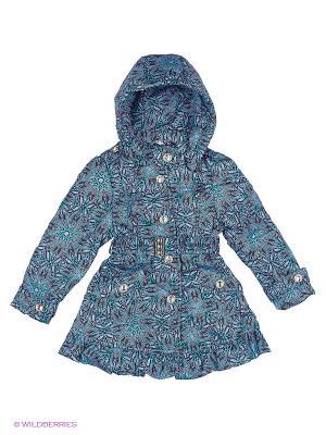 Пальто для девочки демисезонное Rusland. Цвет: голубой