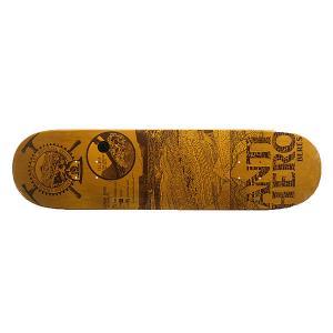 Дека для скейтборда  Beres Gnarchaeology 32.22 x 8.25 (21 см) Antihero. Цвет: коричневый,желтый