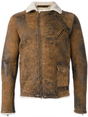 Куртка с меховой подкладкой Salvatore Santoro. Цвет: коричневый