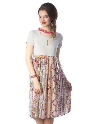 Платье Wisell. Цвет: коричневый, бежевый