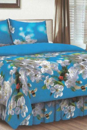 Постельное бельё ЕВРО BegAl. Цвет: голубой, белый, зеленый