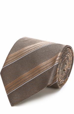 Шелковый галстук в полоску Tom Ford. Цвет: бежевый